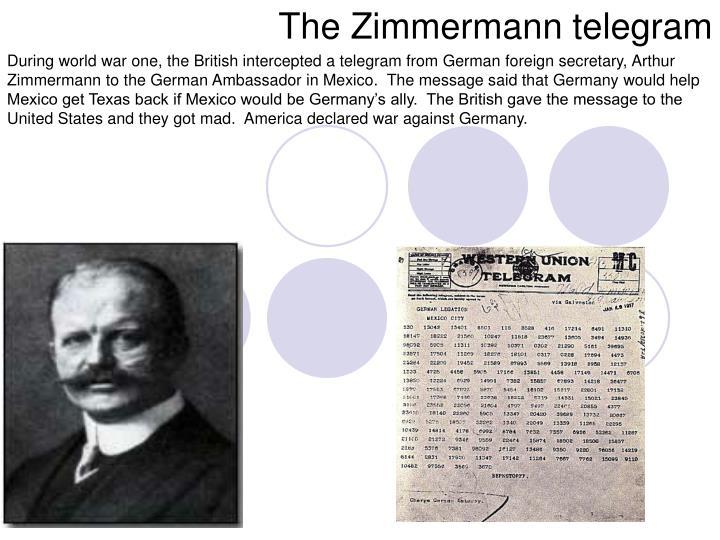 The Zimmermann telegram