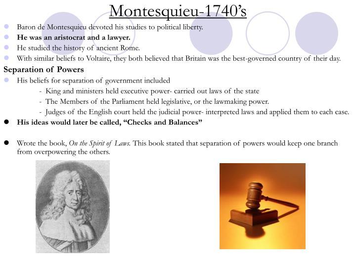 Montesquieu-1740's