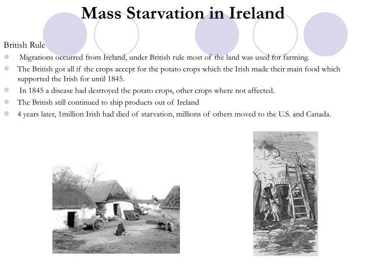 Mass Starvation in Ireland