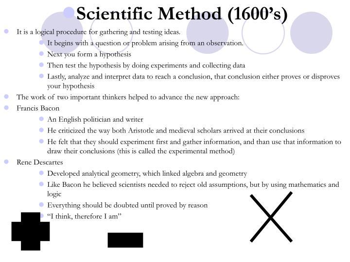 Scientific Method (1600's)