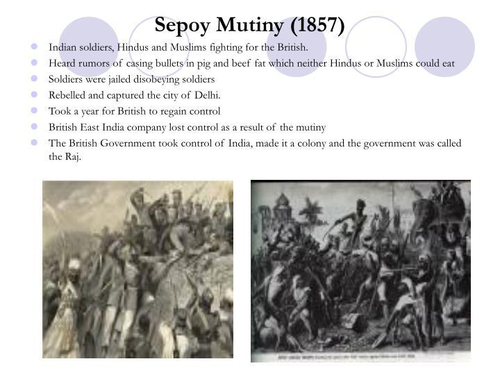 Sepoy Mutiny (1857)