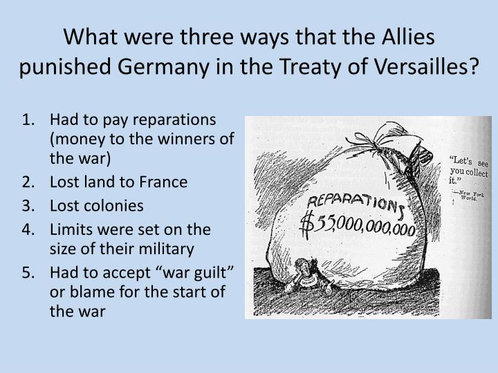 Was germany to blame for world