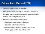 critical path method 2 2