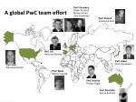 a global pwc team effort