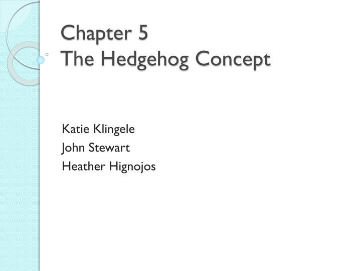 chapter 5 the hedgehog concept n.