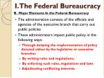 i the federal bureaucracy5