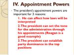 iv appointment powers1