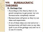 viii bureaucratic theories6