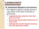 x bureaucratic organizations4