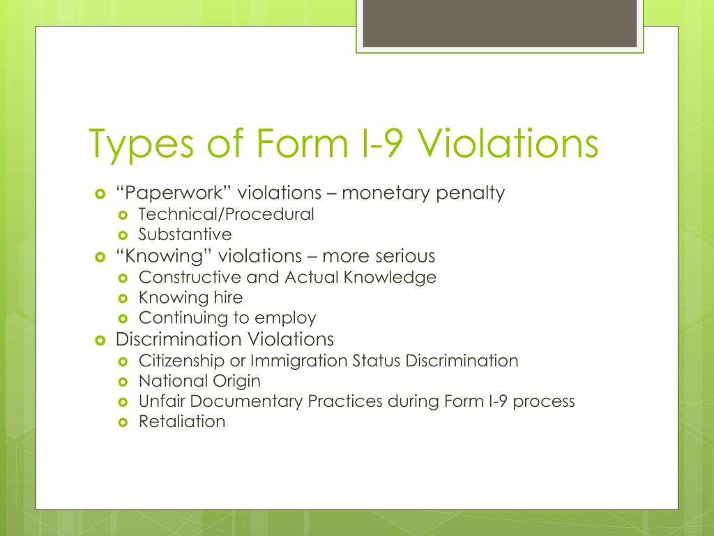 form i-9 violations  PPT - Form I-11 PowerPoint Presentation - ID:11