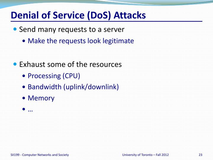 Denial of Service (
