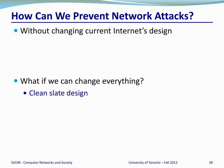 How Can We Prevent Network Attacks?