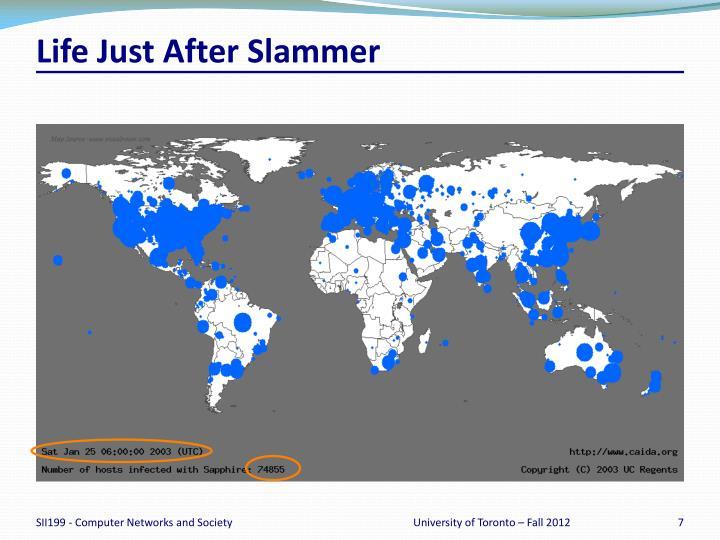 Life Just After Slammer