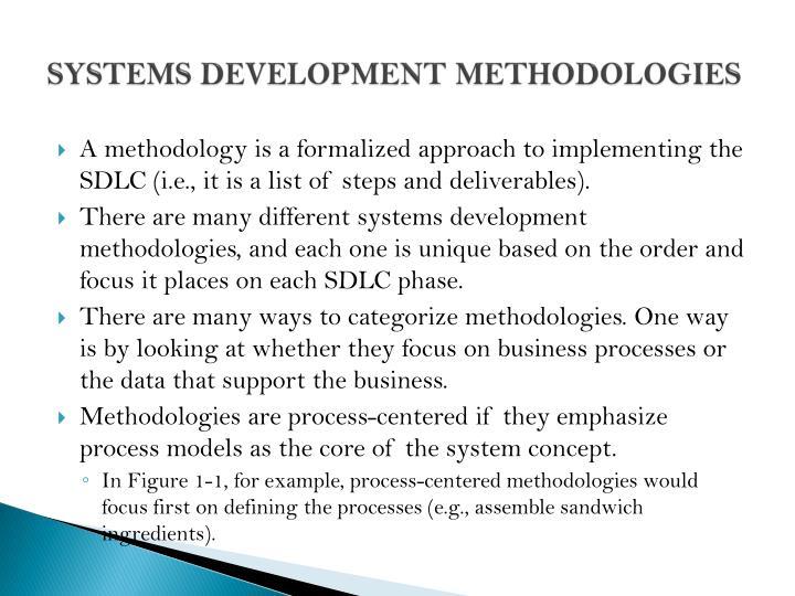SYSTEMS DEVELOPMENT METHODOLOGIES