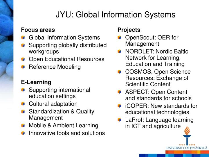 JYU: Global Information Systems