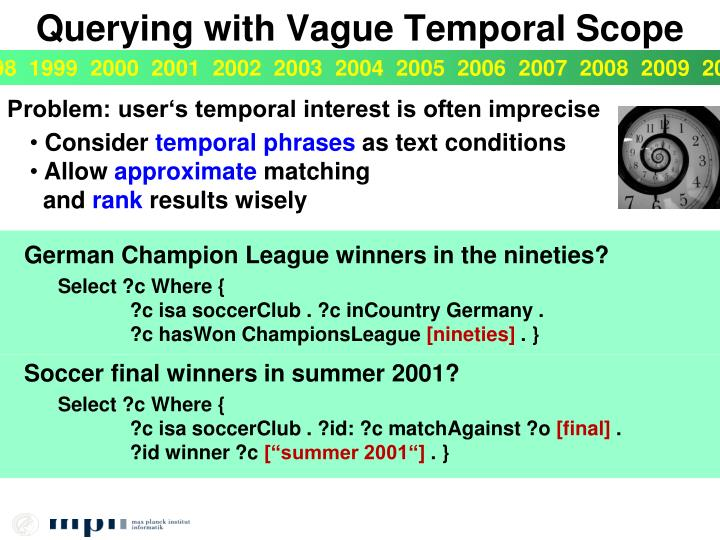 Querying with Vague Temporal Scope
