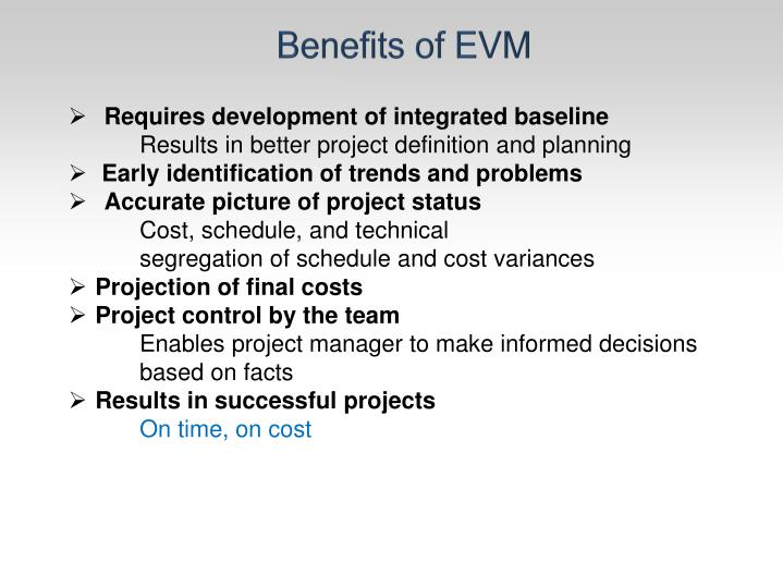 Benefits of EVM