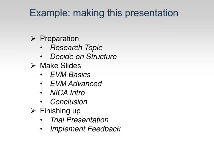 Example: making this presentation