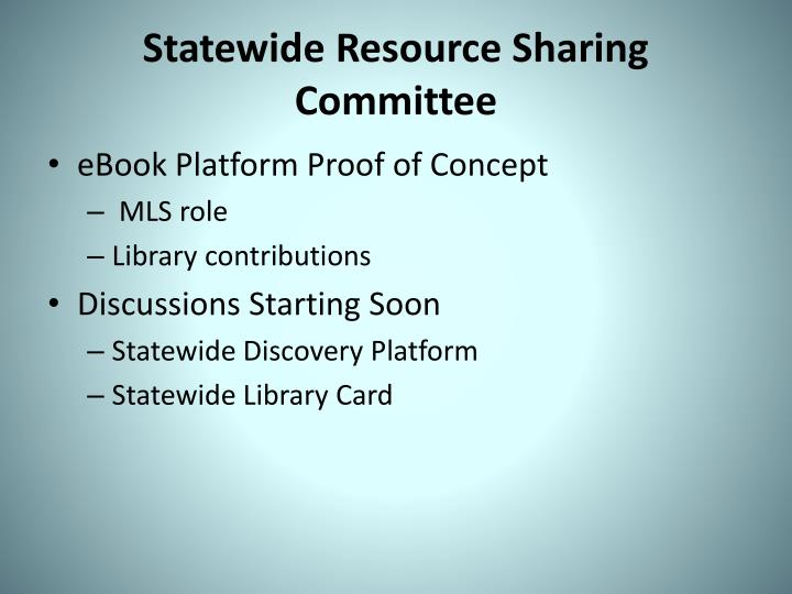 Statewide Resource Sharing Committee