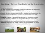 case study the road show etisalat island wide promotion
