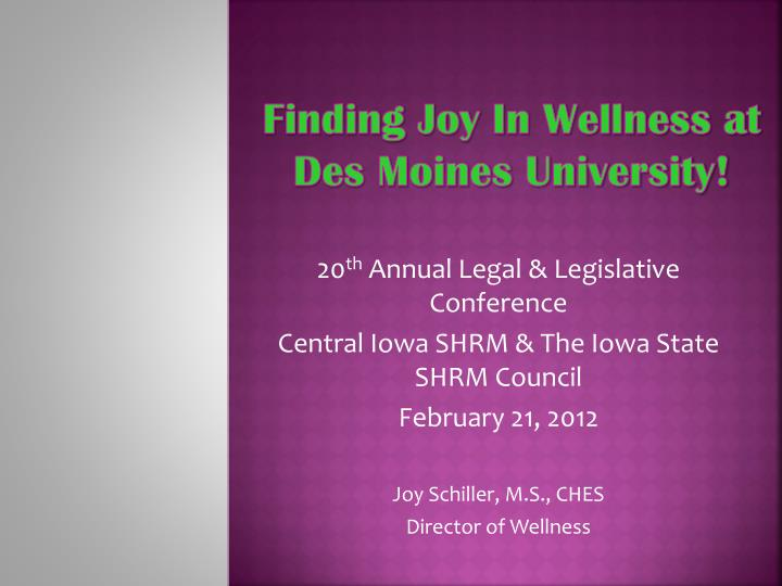 finding joy in wellness at des moines university n.