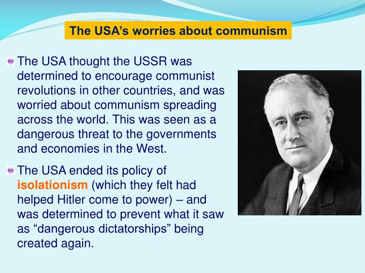The USA's worries about communism
