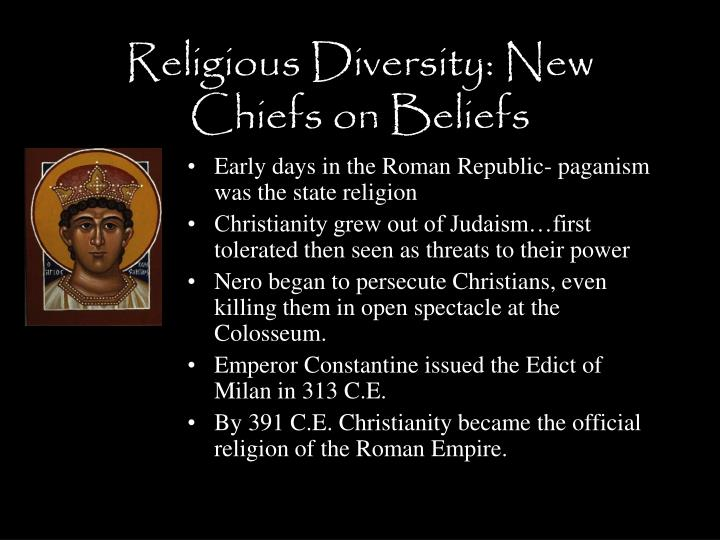 Religious Diversity: New Chiefs on Beliefs