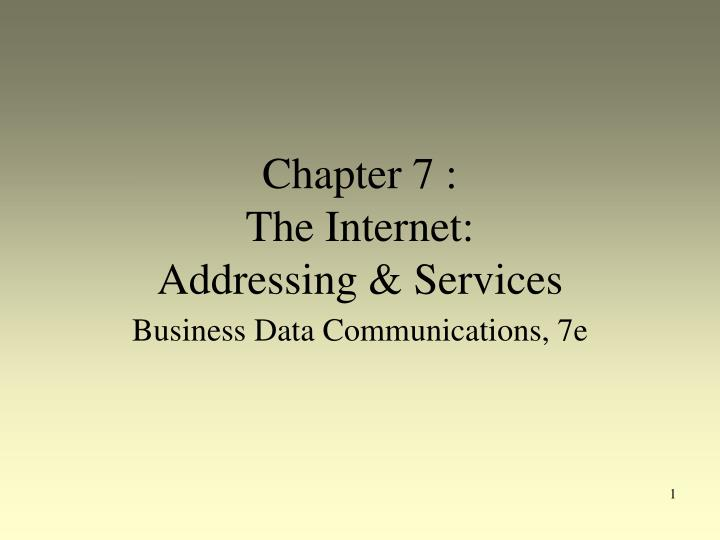 chapter 7 the internet addressing services n.
