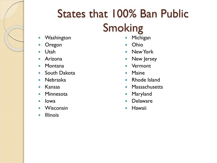 a discussion of the need for banning smoking in public places due to the increasing effect of smokin Smoking should be banned in public because people are exposed to hazardous smoke in many places, a ban can lead to prevention and quitting of smoking and second hand smoke can cause many illnesses and diseases.