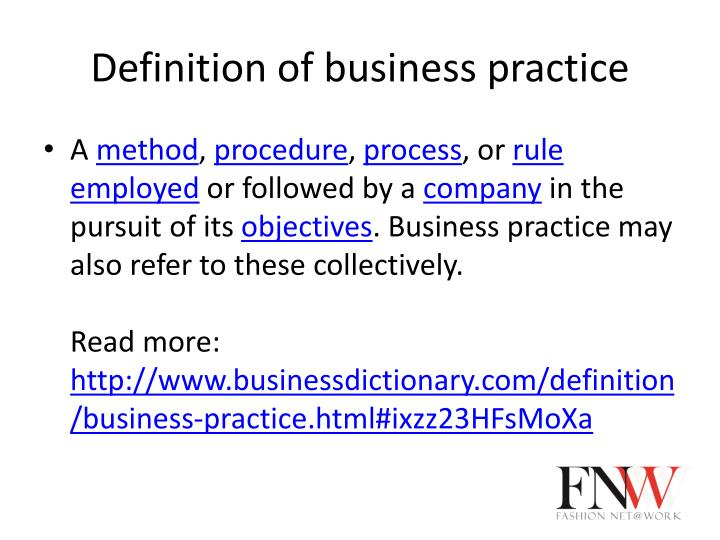 good business practice definition
