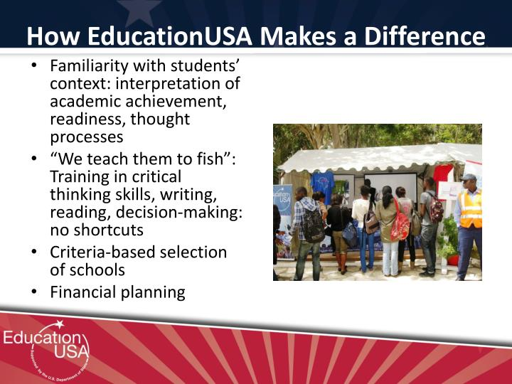How EducationUSA Makes a Difference