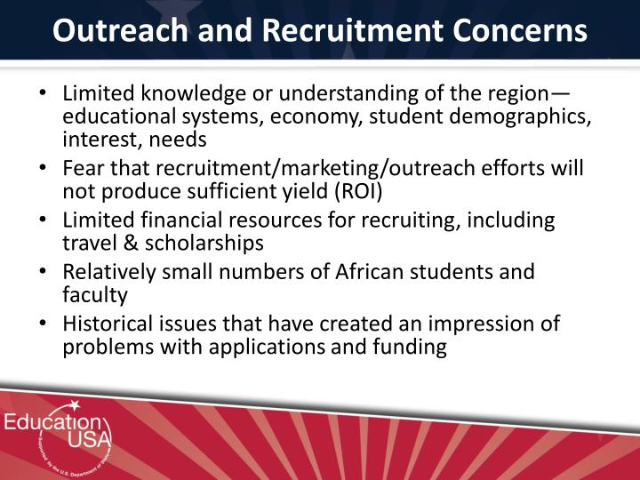 Outreach and Recruitment Concerns