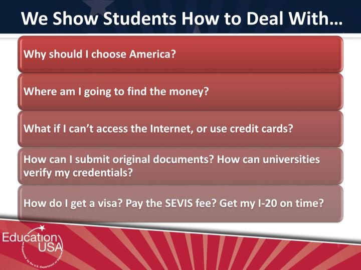 We Show Students How to Deal With…