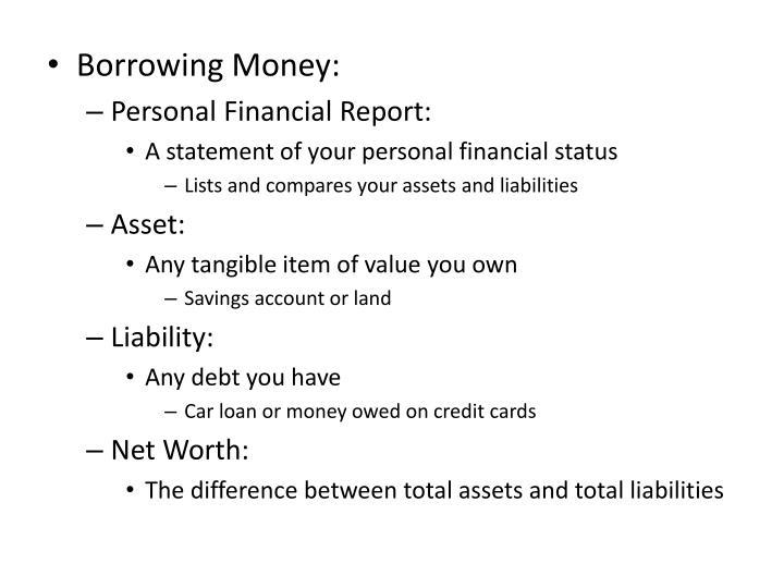 Borrowing Money: