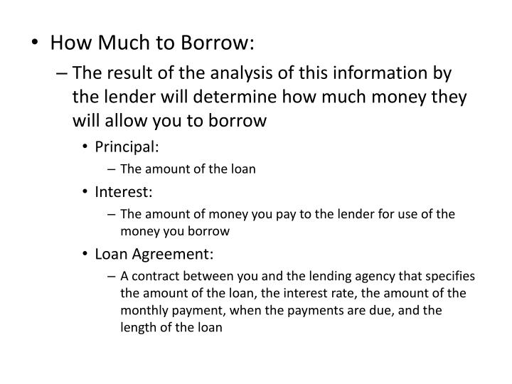 How Much to Borrow: