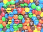 beginning spreadsheets