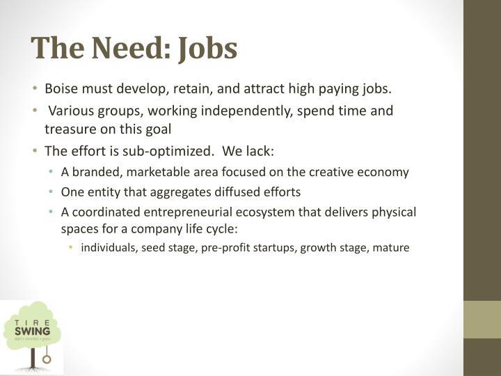 The need jobs