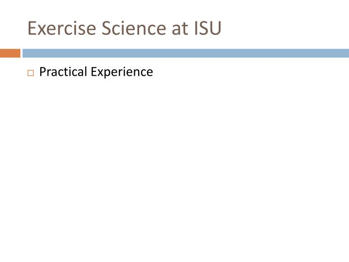 Exercise Science at ISU