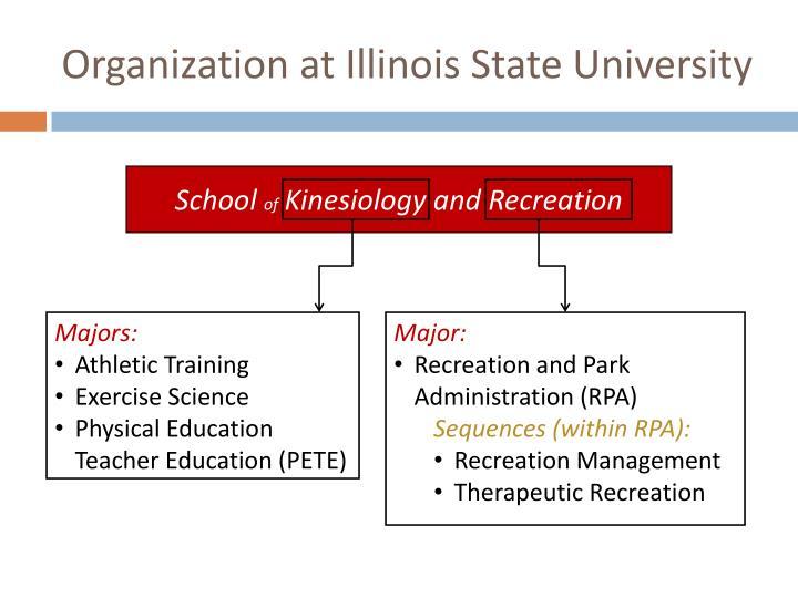 Organization at Illinois State University