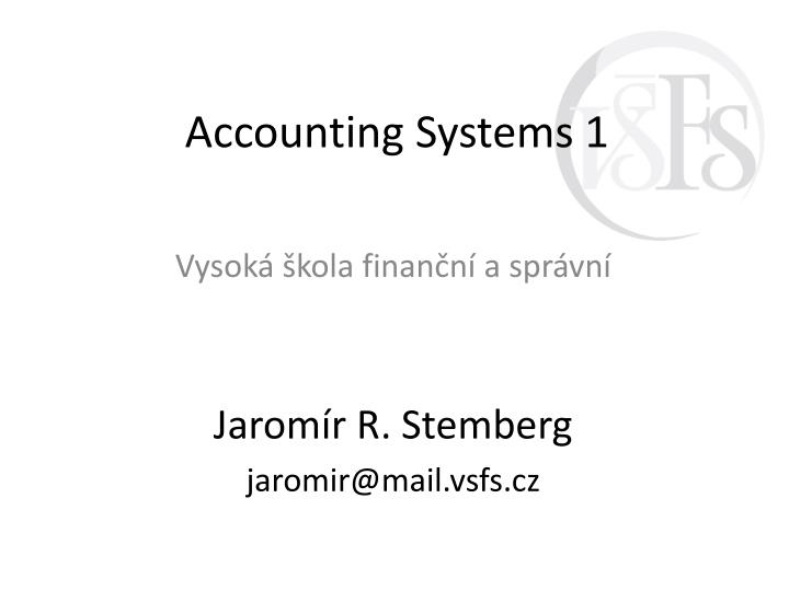 accounting systems 1 n.