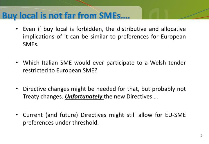 Buy local is not far from smes