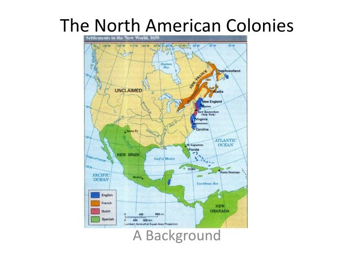 the north american colonies n.