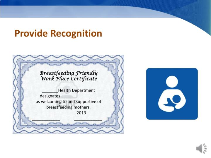 Provide Recognition