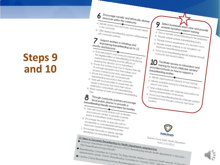 Steps 9