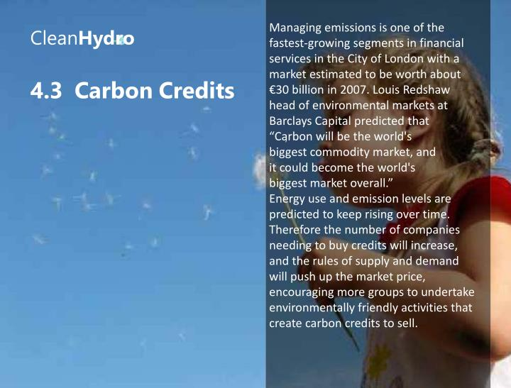 Managing emissions is one of the
