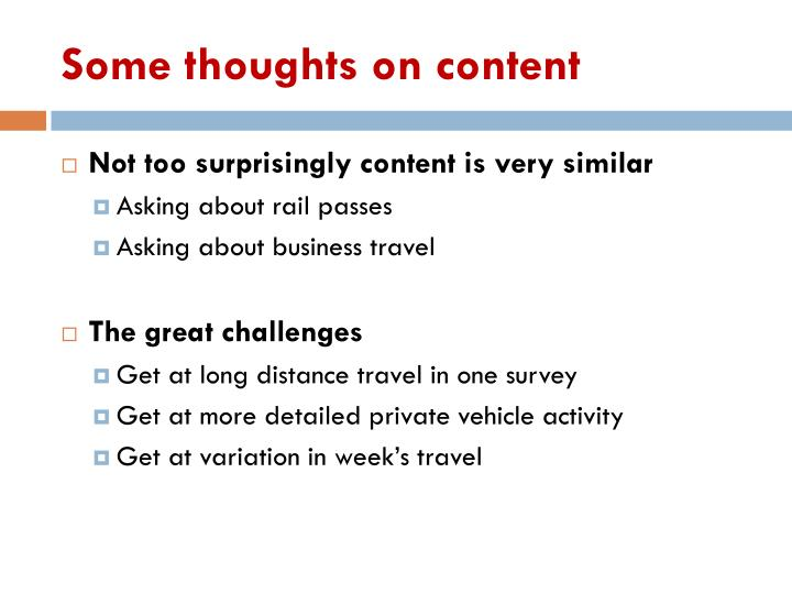 Some thoughts on content