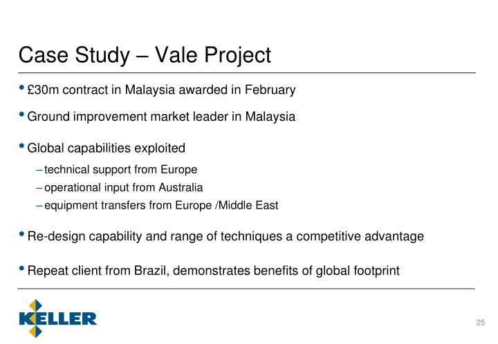 Case Study – Vale Project