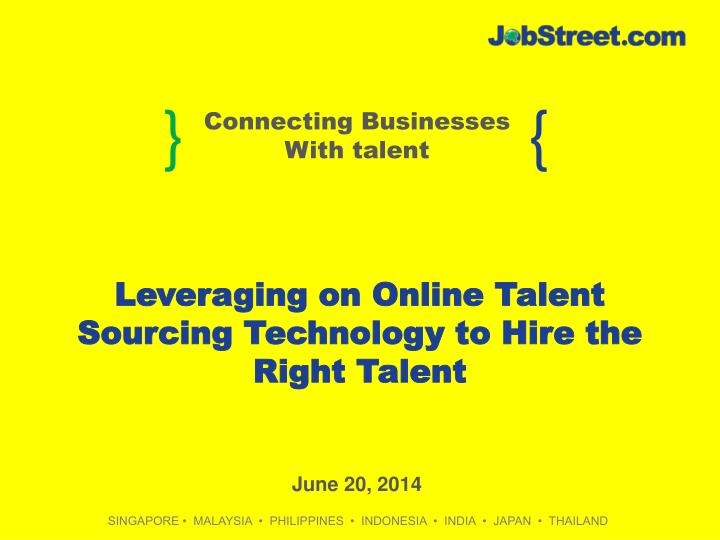 leveraging on online talent sourcing technology to hire the right talent n.