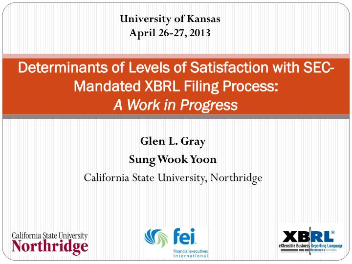 determinants of levels of satisfaction with sec mandated xbrl filing process a work in progress n.