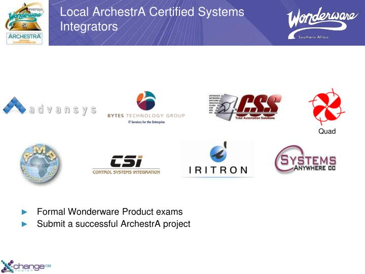 Local ArchestrA Certified Systems Integrators